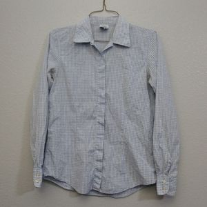 Brooks Brothers XS Button Down Sheer Blue Blouse